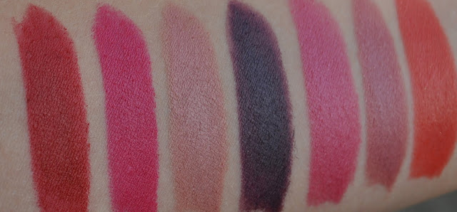 Swatched: Kate Moss Lipstick Collection for Rimmel