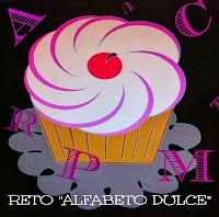 Logo Reto Alfabeto Dulce Cook the cake