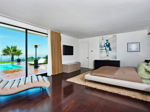 Photo of one of the bedrooms in the Bel Air modern residence