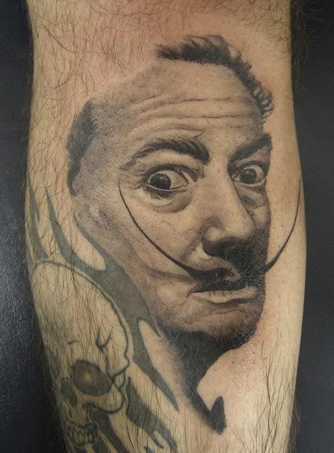 salvador dali tattoo. salvador dali tattoos.