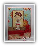 . Blue Bazzill; Stamps: Puddle Jumper Beach Girl Hannah (By LORi Designs); .