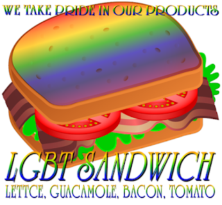 LGBT Sandwich from the Original Sandwich Shoppe