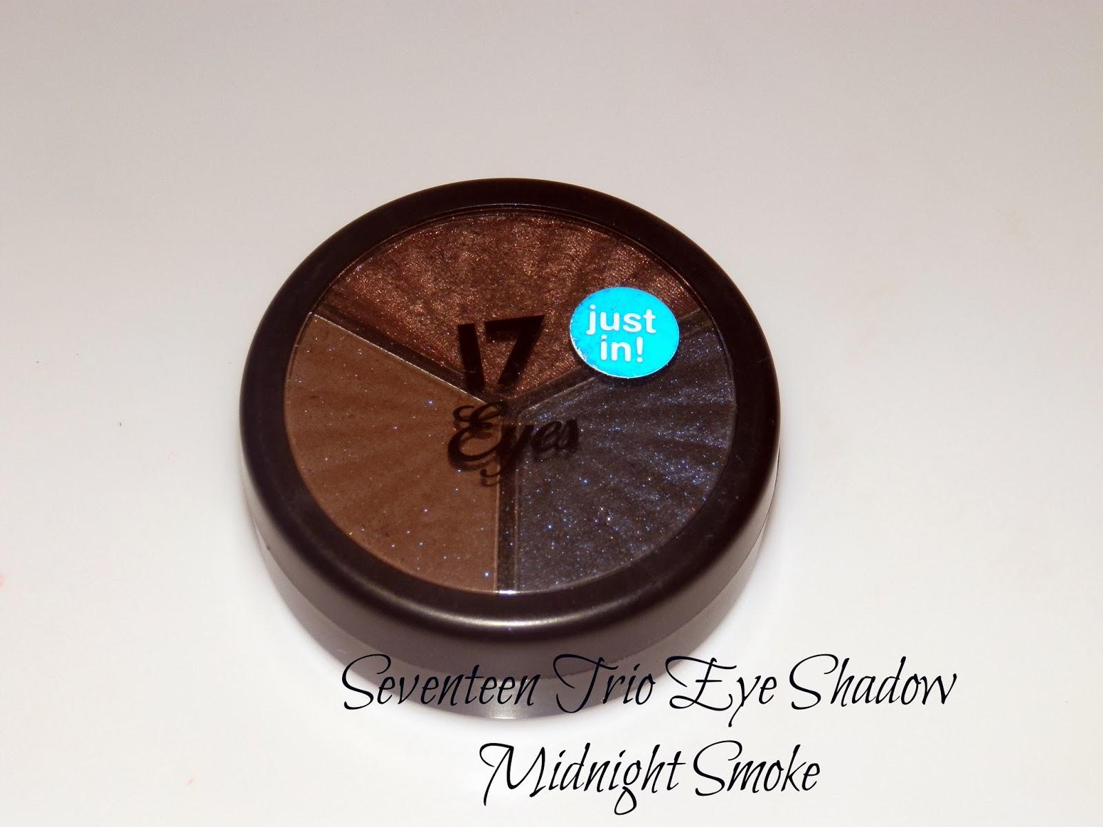 Seventeen Trio Eye Shadow Midnight Smoke Swatches