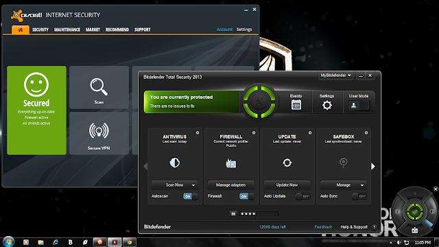 Avast IS 8 + Bitdefender TS 2013