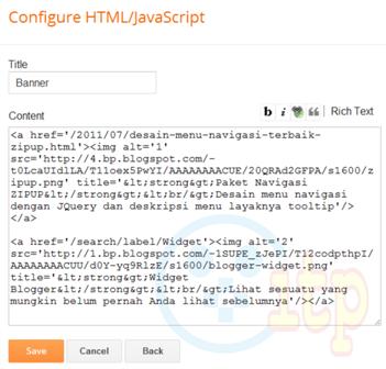 Memasang HTML pada Blog