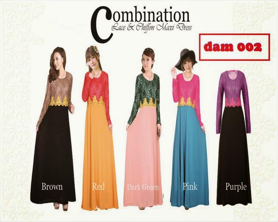 DAM OO2 LACE CHIFFON DRESS