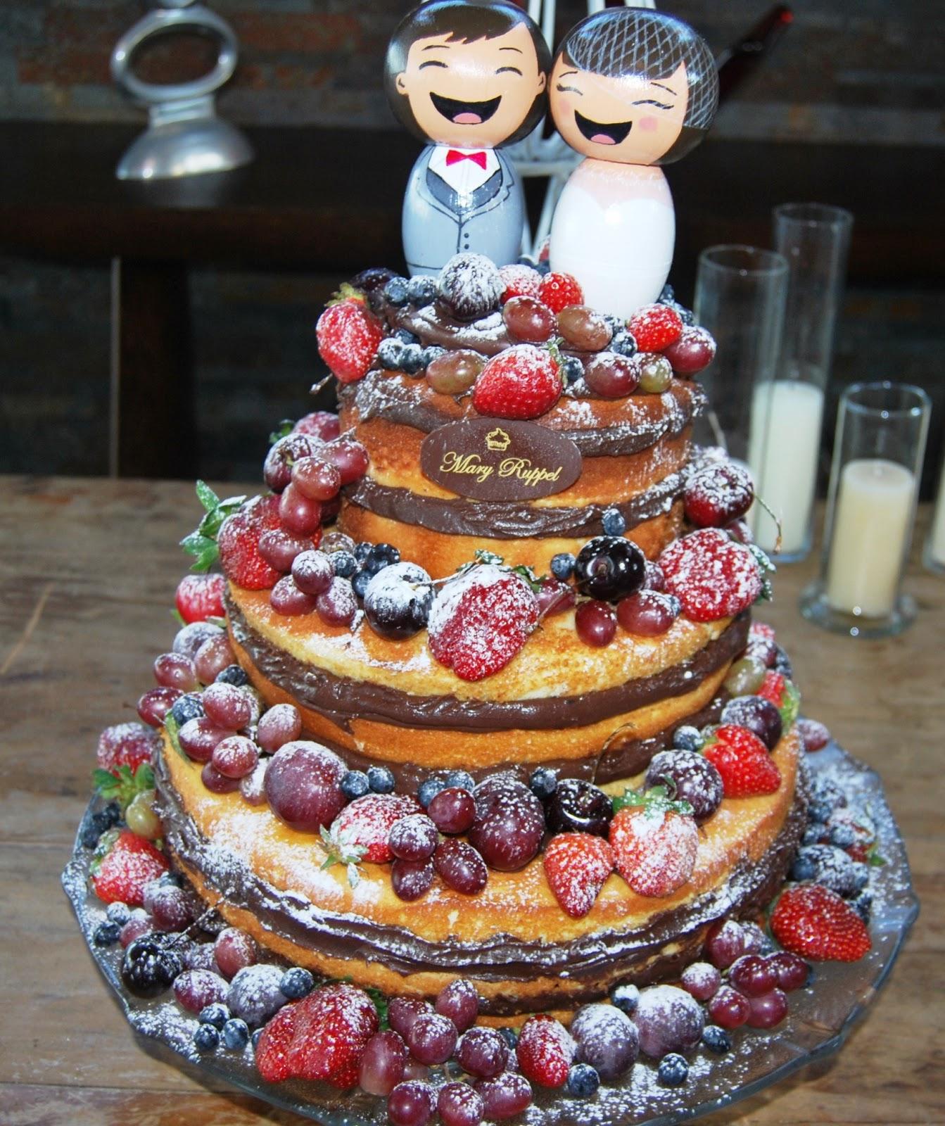 Qmel & cia: Bolo Naked Cake ou Bolo Pelado de Morango