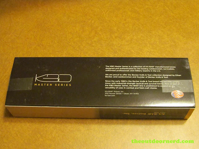 Ka-Bar Becker BK14 EsKabar - Box (Back)