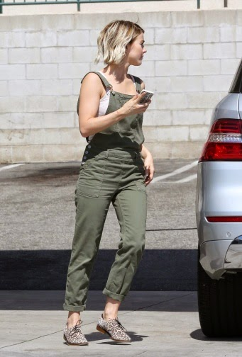 Street Style_ JULIANNE HOUGH at a Gas Station