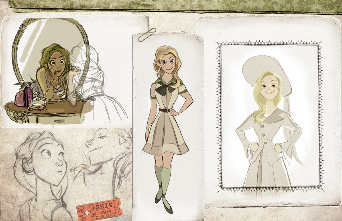 Character Design For Disney : Once upon a old animation development art for
