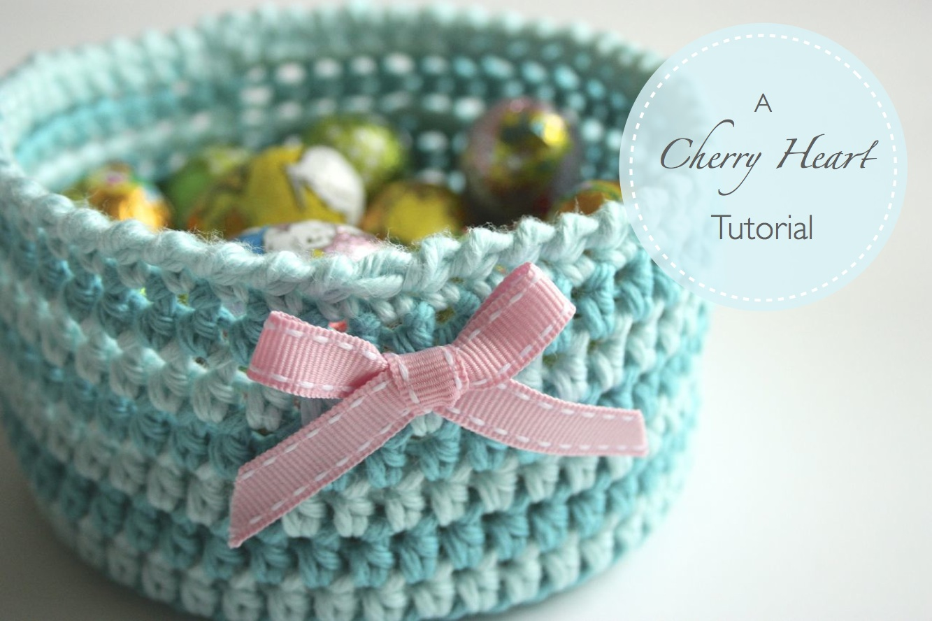 How To Crochet Tutorial Pictures : Crochet Basket Tutorial