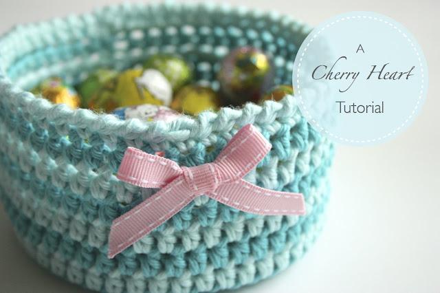Crochet Tutorial Online : Cherry Heart: Blog: Crochet Basket Tutorial