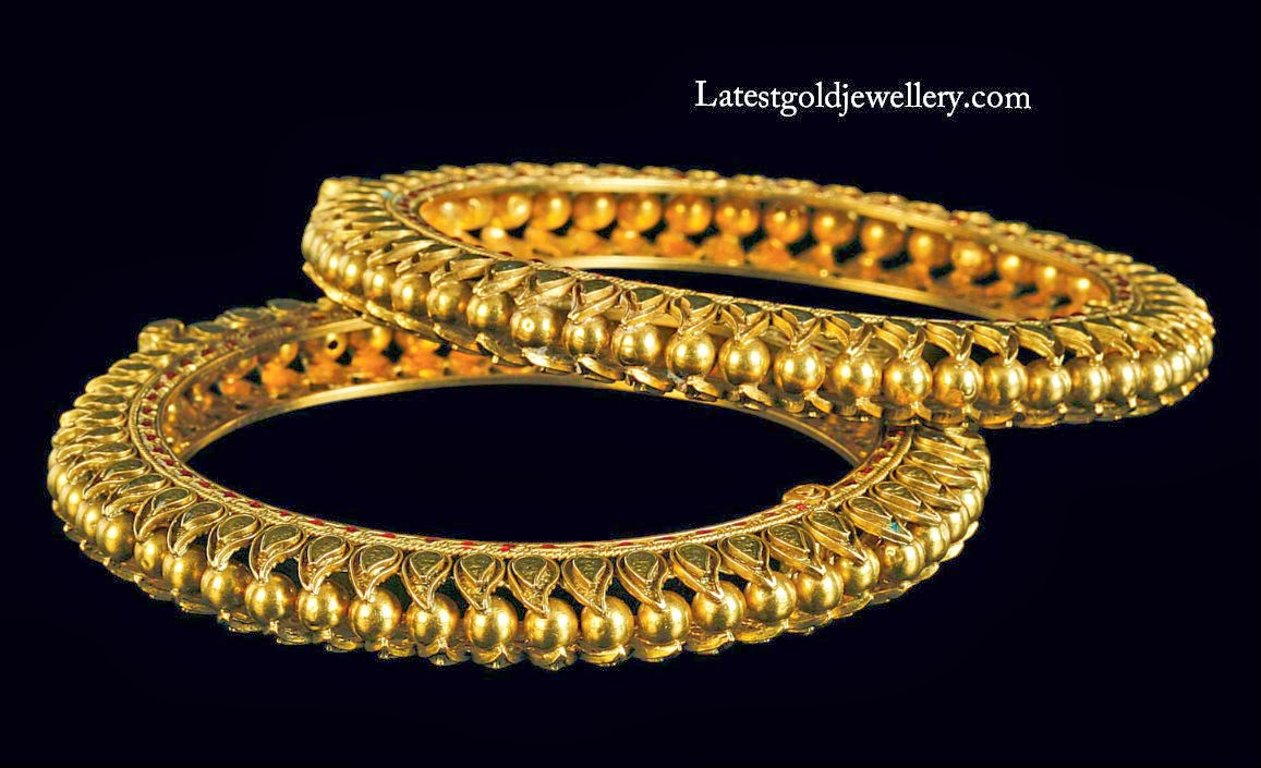 Stylish Gold Bangles | Latest Gold Jewellery Designs
