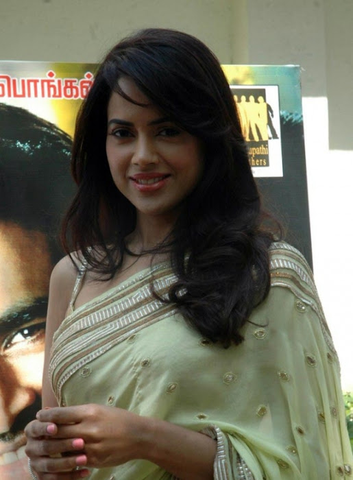 sameera reddy saree in vettai movie audio release hot photoshoot