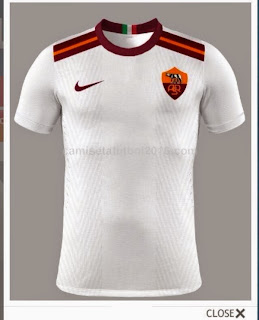 gambar render jersey As roma away 2015/2016