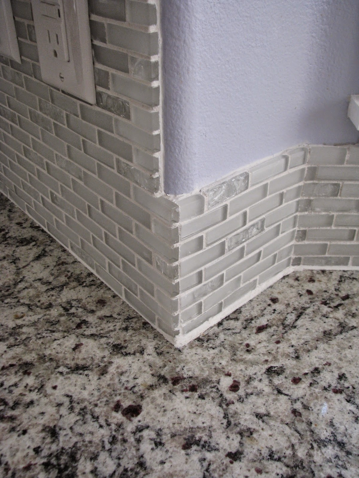 My so called diy blog tiling backsplash in a bay window How to put tile on wall in the kitchen