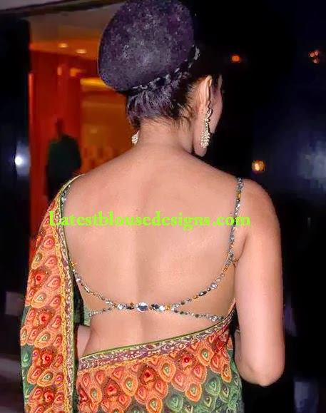 backless saree blouse