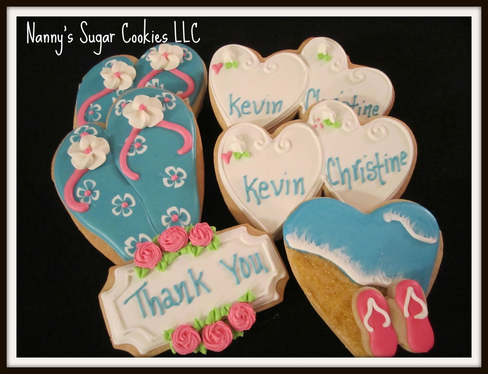 cookies for a beach themed bridal shower