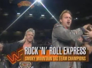 WWF / WWE Survivor Series 1993: Smokey Mountain Tag Team Champions The Rock 'n' Roll Express