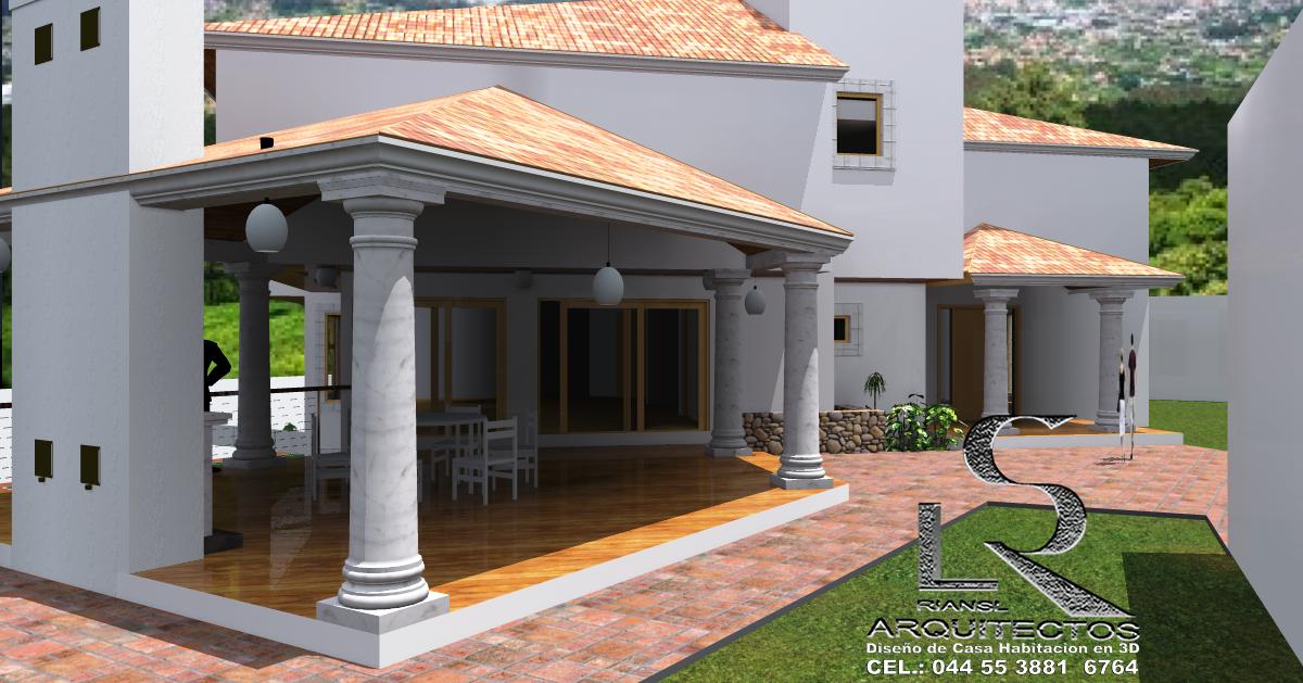 Proyectos virtuales dise o de casa habitaci n en 3d arq for Disenos de casas en mexico