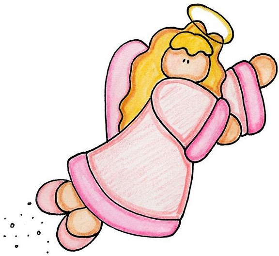 de color rosa para imprimir dibujos coloreados de angeles angel de ...