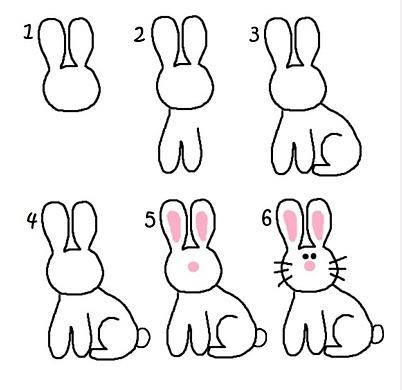 Como se dibuja a un conejo - Imagui