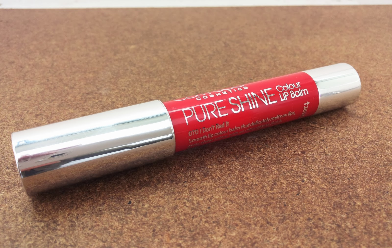 cartice pure shine colour lip balm