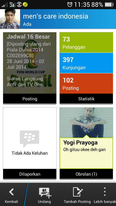 Dashboard  Admin Page BBM Channel