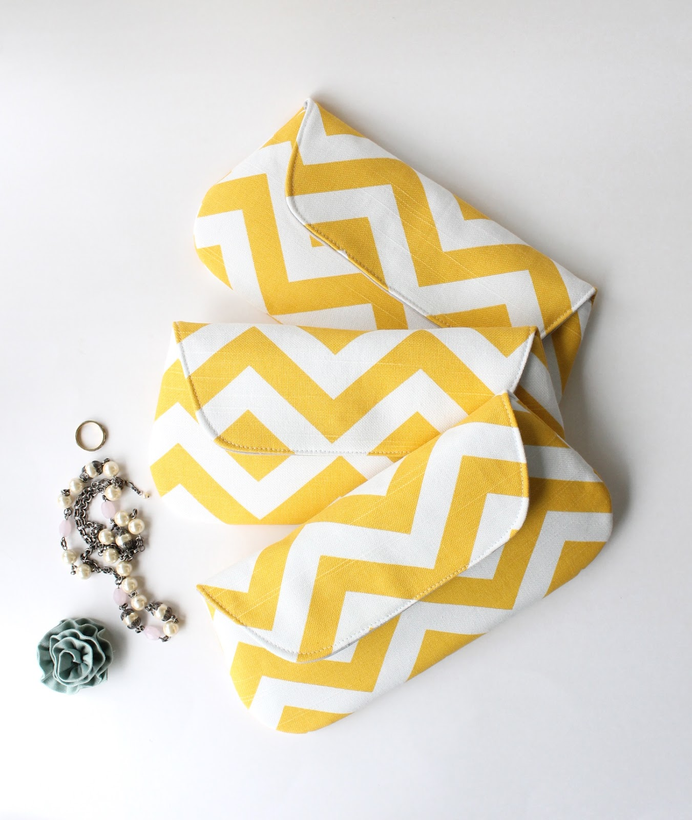 chevron clutches by allisa jacobs