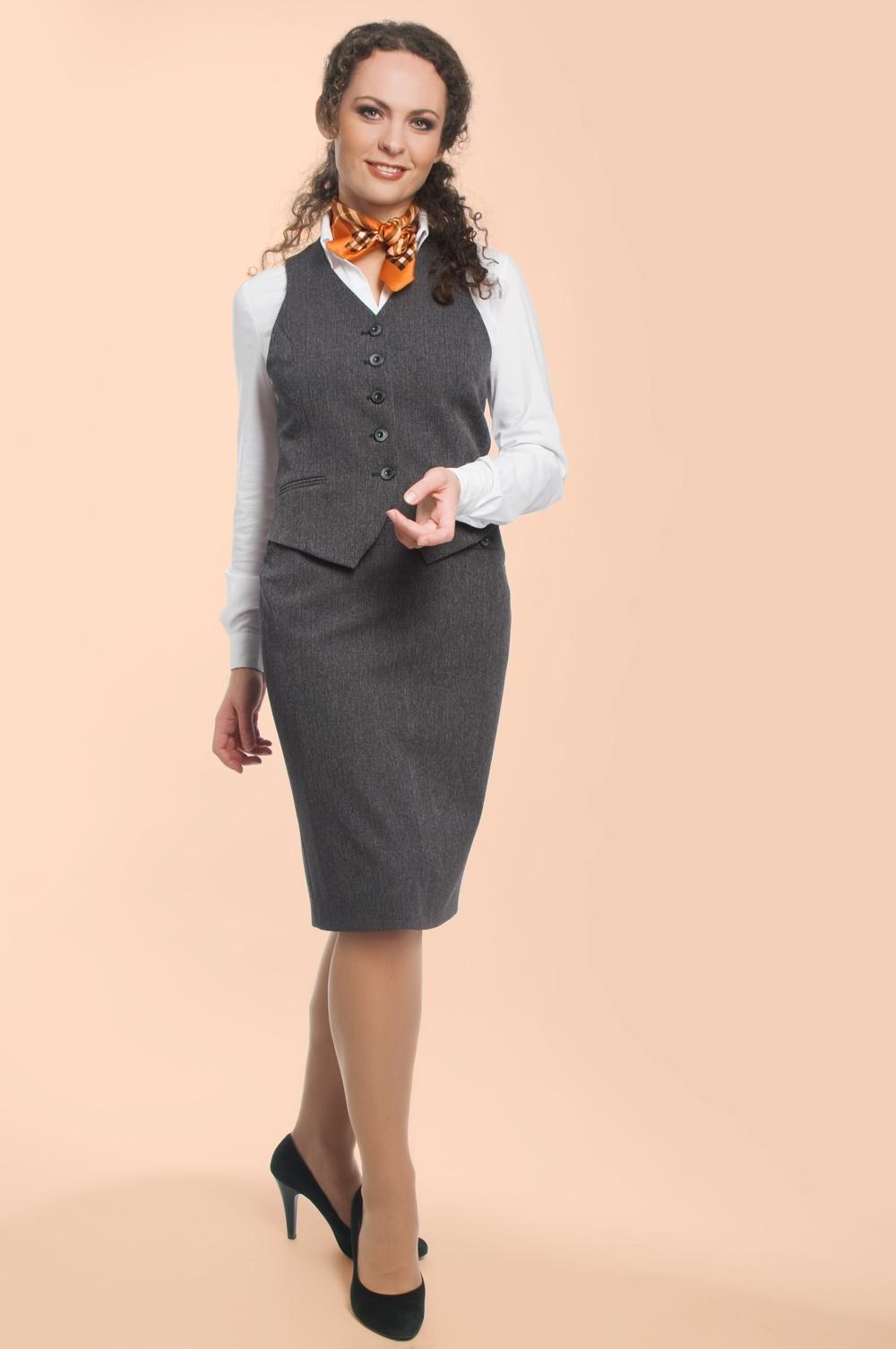 Модные юбки с жилетками