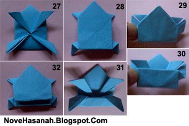 cara membuat origami kodok yang dapat melompat