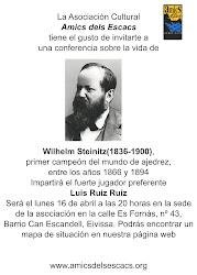 Ciclo de conferencias de ajedrez sobre Campeones del Mundo