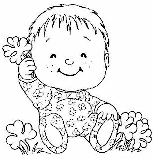 Imagem para pintura de Bebê