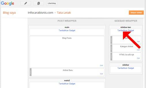 Menambahkan Gadget Blogger Featured Post