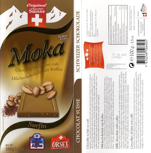 tablette de chocolat lait gourmand orset la route des alpes lait moka