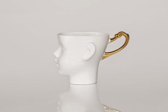 Doll head mug Ende Ceramics porcelain
