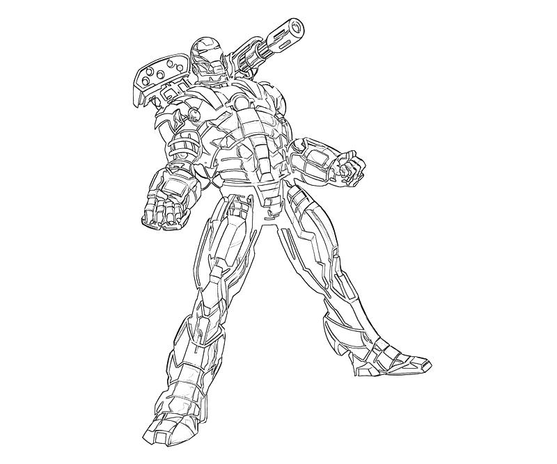 Printable Marvel Ultimate Alliance 2 War Machine Cartoon Coloring  title=