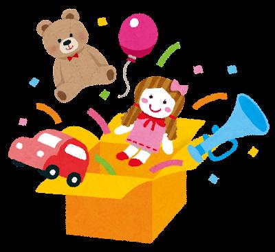 おもちゃ箱のイラスト