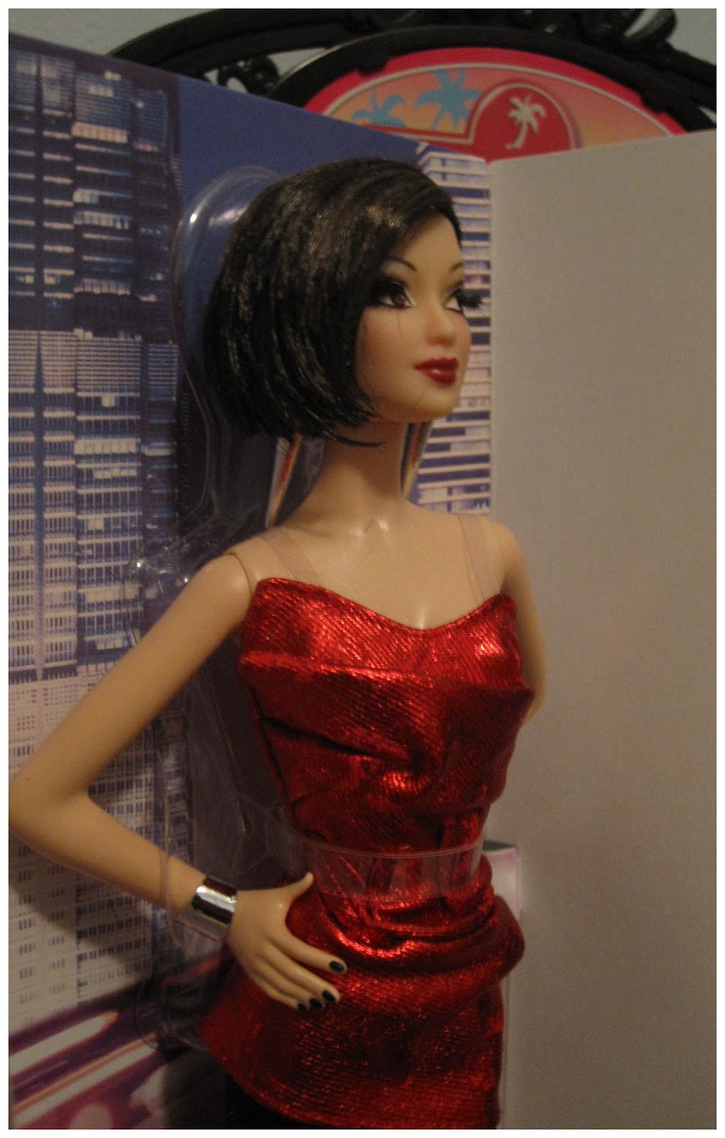 Doll Lightful City Shine Barbie Doll Red Asian Updated