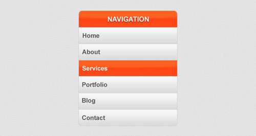 The vertical navigation bar with Photoshop