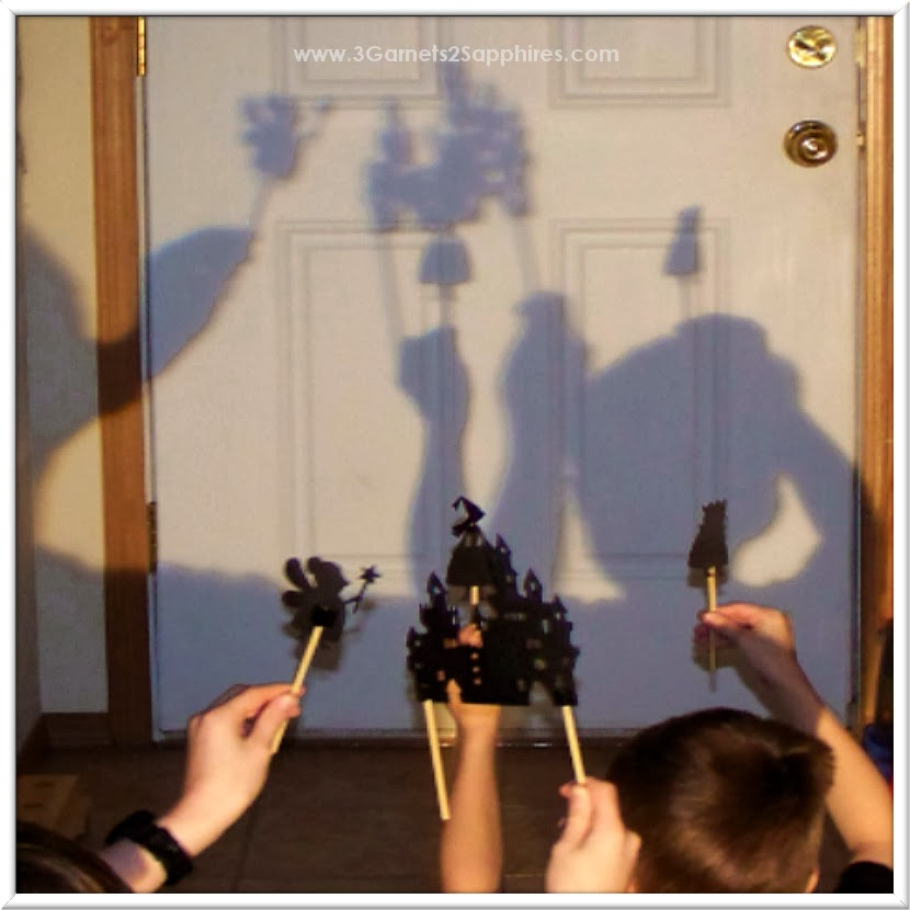 Dramatic play with shadow puppets