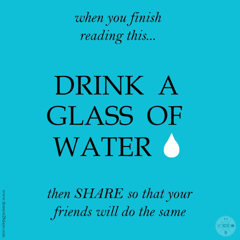 Drink a glass of water