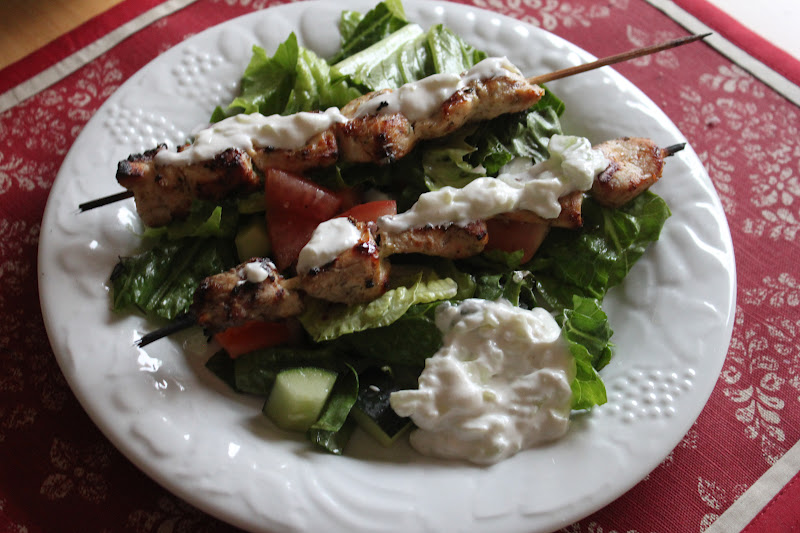 Tortillas and Honey: Chicken Souvlaki Salad (Kabob Week Day 4)