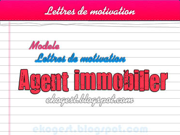 Lettre De Motivation Agent Immobilier Ekogest Economie Gestion