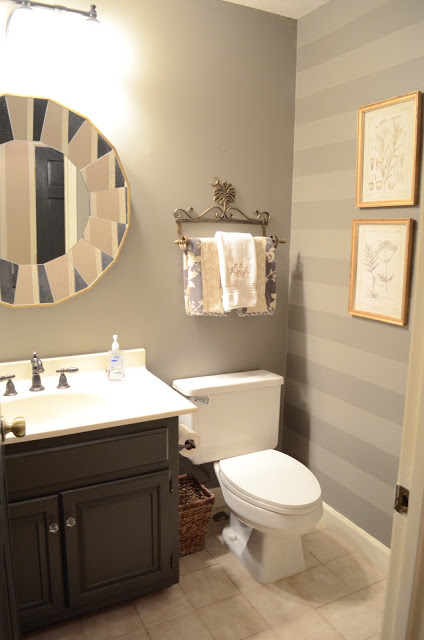 Behr elephant skin in our half bathroom. The Houston House  How to Pick Gray Paint