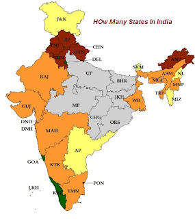 How Many States In India Or How Many States In India at Present