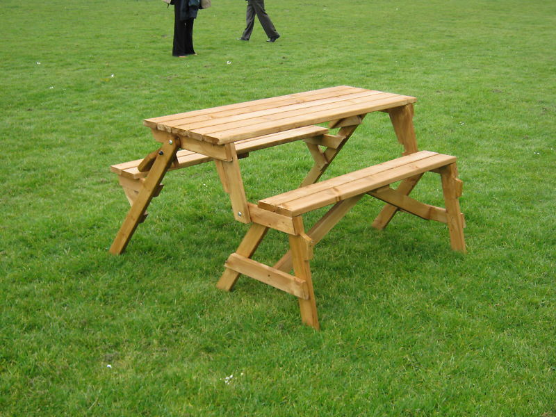 Pix Grove Foldable Picnic Table And Bench