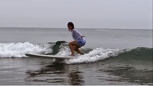 Surfing the Pacific Ocean