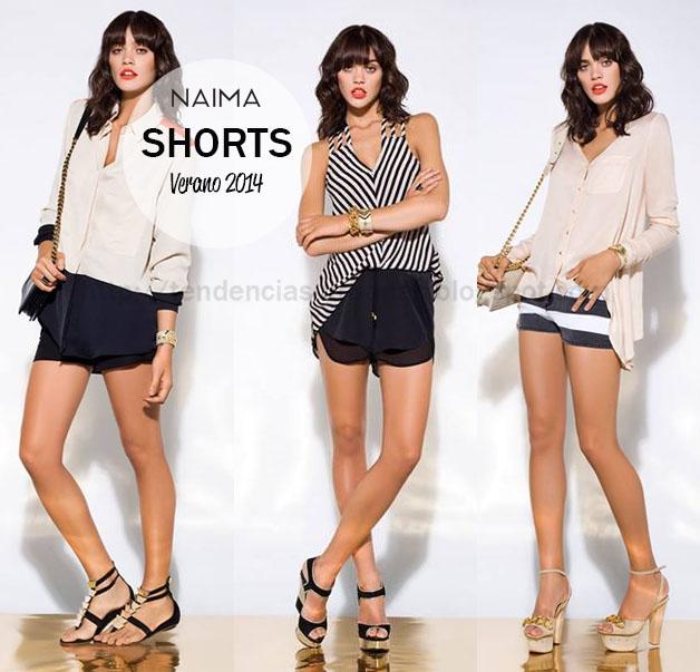 Shorts tiro alto Naima Primavera Verano 2014