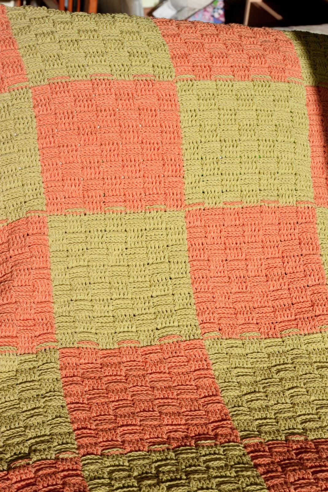 Плед из квадратов вязания спицами